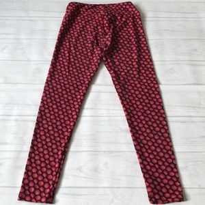 LuLaRoe Pants - 🍄Lularoe women's one size red blue black leggings